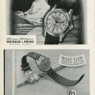 1949 Montanus Watch Company Schindler & Moenig Milex-Elem Watch Company 1949 Swiss Ad Suisse Advert