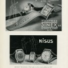1949 Sinex Watch Company Nisus Watch Company Switzerland Vintage 1949 Swiss Ad Suisse Advert