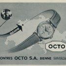 1953 Octo Watch Company Bienne Switzerland Vintage 1953 Swiss Ad Suisse Advert Horlogerie Horology