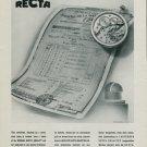 1944 Recta Watch Company Switzerland Vintage 1944 Swiss Ad Suisse Advert Horlogerie Horology