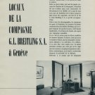 1953 Breitling Watch Company Switzerland G L Breitling SA Vintage 1953 Swiss Magazine Article Suisse