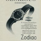 1954 Zodiac Watch Company Zodiac Glorious Advert Switzerland 1954 Swiss Ad Suisse Advert