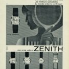 1965 Zenith Watch Company Switzerland Vintage 1965 Swiss Ad Suisse Advert (Tennis) Horlogerie