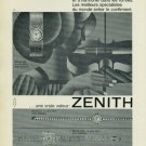 1965 Zenith Watch Company Vintage 1965 Swiss Ad Suisse Advert Switzerland (French Text)