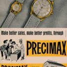 1954 Precimax Watch Company Neuchatel Switzerland Vintage 1954 Swiss Ad Suisse Advert