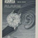 1954 Roamer Watch Company Soleure Switzerland Vintage 1954 Swiss Ad Suisse Advert Horology