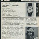 1965 Universal Geneve Watch Company Switzerland Polerouter Advert 1965 Swiss Ad Suisse Advert