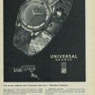 1965 Universal Geneve Watch Company Geneva Switzerland Vintage 1965 Swiss Ad Suisse Advert Horology