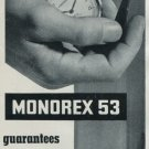 1958 Erismann-Schinz Company Monorex 53 Advert 1958 Swiss Ad Suisse Advert Horology Horlogerie