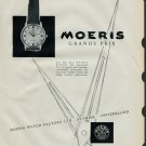 1958 Moeris Watch Company St-Imier Switzerland Vintage 1958 Swiss Ad Suisse Advert Horology