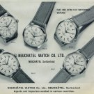 1958 Neuchatel Watch Company Switzerland Vintage 1958 Swiss Ad Suisse Advert Horology Horlogerie