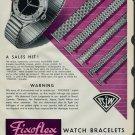 1958 Rodi & Wienenberger Fixoflex Watch Bracelet Ad 1958 Swiss Ad Suisse Advert Horology Horlogerie
