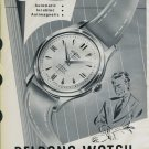 1958 Delbana Watch Company Grenchen Switzerland Vintage 1958 Swiss Ad Suisse Advert