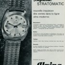 1967 Alpina Watch Company Alpina Stratomatic Advert Vintage 1967 Swiss Ad Suisse Advert Horology