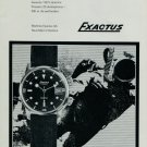 1967 Exactus Watch Company Montres Exactus SA Switzerland Vintage 1967 Swiss Ad Suisse Advert Diving