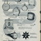 1958 Junghans Clock Company Black Forest Germany Vintage 1958 Swiss Ad Suisse Advert Horology