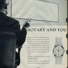 1958 Rotary Watch Company Rotary and You Vintage 1958 Swiss Ad Suisse Advert Switzerland