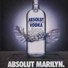 Absolut Marilyn Monroe Art Ad Absolut Vodka Advertisement Advert Norma Jeane
