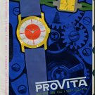1958 Provita Watch Company Franz Schnurr W. Germany Vintage 1958 Swiss Ad Suisse Advert Horology