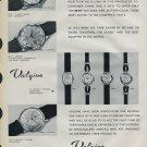1958 Valgine Watch Company Fils Ali Guenat Switzerland Vintage 1958 Swiss Ad Suisse Advert