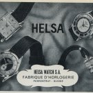 1957 Helsa Watch Company Porrentruy Switzerland Vintage 1957 Swiss Ad Suisse Advert
