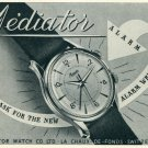 1957 Mediator Watch Company La Chaux-de-Fonds Switzerland Vintage 1957 Swiss Ad Suisse Advert
