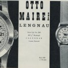 1957 Mero Watch Company Otto Maire SA Lengnau Switzerland Vintage 1957 Swiss Ad Suisse Advert