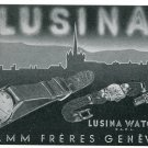 1947 Lusina Watch Company Pamm Freres Switzerland Vintage 1947 Swiss Ad Suisse Advert