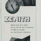 1947 Zenith Watch Company Switzerland Vintage 1947 Swiss Ad Suisse Advert Horology