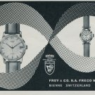 1957 Frey & Co Watch Company Freco Watch Co. Switzerland Vintage 1957 Swiss Ad Suisse Advert
