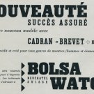 1957 Bolsa Watch Company Switzerland Vintage 1957 Swiss Ad Suisse Advert Horology