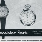 1963 Excelsior Park Watch Company Switzerland Vintage 1963 Swiss Ad Suisse Advert Horology