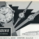 1957 Candino Watch Company Switzerland Vintage 1957 Swiss Ad Suisse Advert Horology