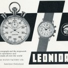 1957 Leonidas Watch Company Saint-Imier Switzerland Vintage 1957 Swiss Ad Suisse Advert Horlogerie