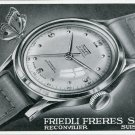1947 Friedli Watch Company Friedli Freres SA Switzerland Vintage 1947 Swiss Ad Suisse Advert