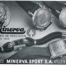 1947 Minerva Watch Company Minerva Sport SA Switzerland Vintage 1947 Swiss Ad Suisse Advert