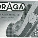 1947 Draga Watch Company Rene Bloch Switzerland Vintage 1947 Swiss Ad Suisse Advert Horology