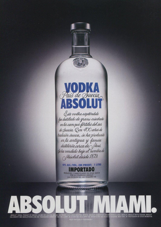 Absolut Miami (Version #2) Art Ad Absolut Vodka Advertisement Advert