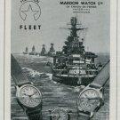 Mardon Watch Company Switzerland Vintage 1947 Swiss Ad Publicite Suisse Montres Advert
