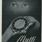 Mulfi Watch Company Henri Muller & Fils Vintage 1947 Swiss Print Ad Suisse Publicite Advert