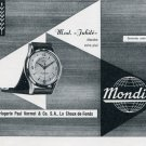 1956 Mondia Watch Company Paul Vermot & Co. Switzerland Vintage 1956 Swiss Ad Suisse Advert