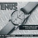 1956 Venus Watch Company Paul Schwarz-Etienne Switzerland Vintage 1956 Swiss Ad Suisse Advert