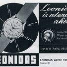 1963 Leonidas Watch Company Saint-Imier Switzerland Vintage 1963 Swiss Ad Suisse Advert