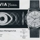 1963 Nivia Watch Company Bienne Switzerland Vintage 1963 Swiss Ad Suisse Advert Horology