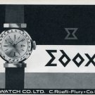 1963 Edox Watch Company Era Watch Co. Switzerland Vintage 1963 Swiss Ad Suisse Advert C Ruefli-Flury