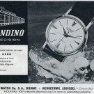 1963 Candino Watch Company Naval Hero Advert Vintage 1963 Swiss Ad Suisse Advert Switzerland