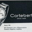 1963 Cortebert Watch Company Switzerland Vintage 1963 Swiss Ad Suisse Advert Horology