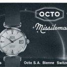 1962 Octo Watch Company Bienne Switzerland Vintage 1962 Swiss Ad Suisse Advert Horology