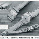 1951 Robert Cart Watch Company Switzerland Vintage 1951 Swiss Ad Suisse Advert Horology