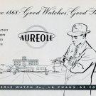 1951 Aureole Watch Company La Chaux-de-Fonds Switzerland Vintage 1951 Swiss Ad Suisse Advert